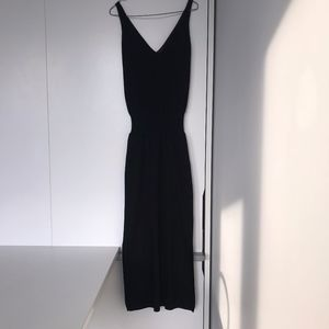 Zara V Neck Black Maxi Dress